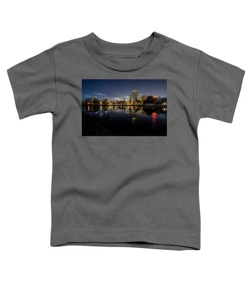 Chicago Skyline At Dawn  Toddler T-Shirt