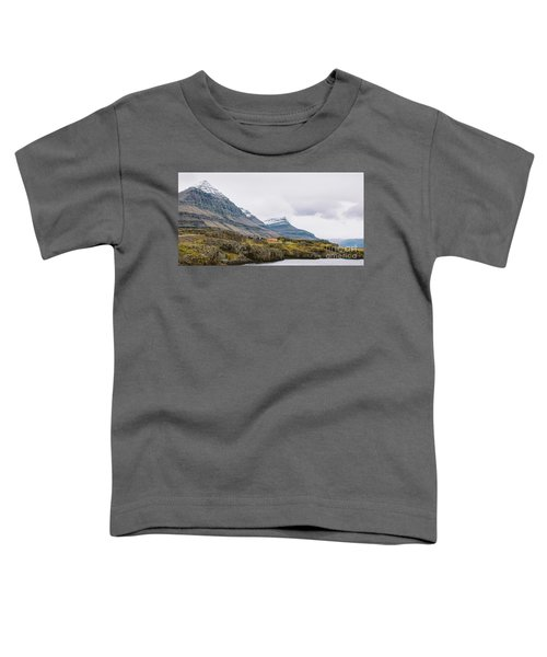 High Icelandic Or Scottish Mountain Landscape With High Peaks And Dramatic Colors Toddler T-Shirt