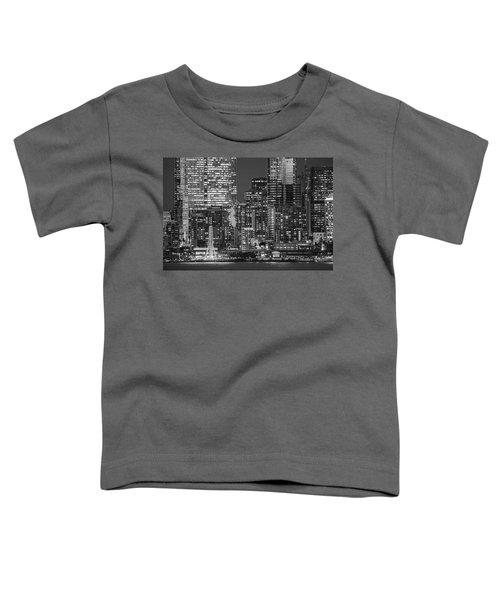 Illuminated City At Night, Seattle Toddler T-Shirt
