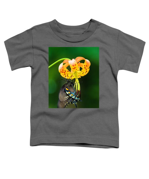 Swallowtail On Turks Cap Toddler T-Shirt