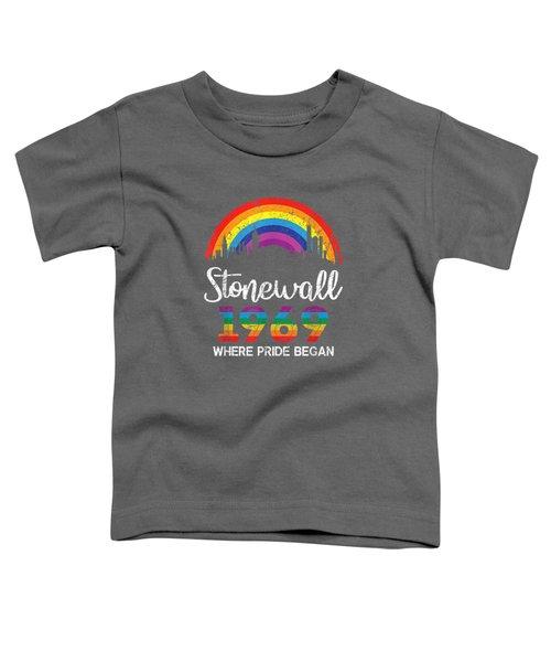 90's Style Stonewall Riots 50th Nyc Gay Pride Lbgtq T-shirt Toddler T-Shirt