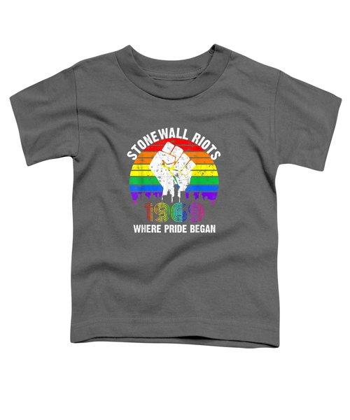 90's Style Stonewall Riots 50th Nyc Gay Pride Lgbtq Rights  T-shirt Toddler T-Shirt