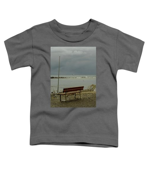 A Bench On Which To Expect, By The Sea Toddler T-Shirt