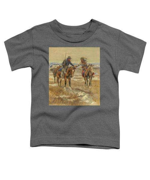 A Doubtful Handshake Toddler T-Shirt