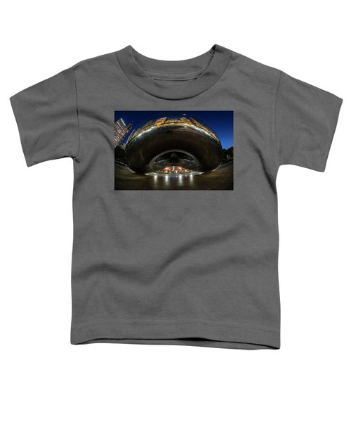 A Fisheye Perspective Of Chicago's Bean Toddler T-Shirt