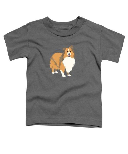 A Happy Home Has A Sheltie A Shetland Sheepdog Toddler T-Shirt