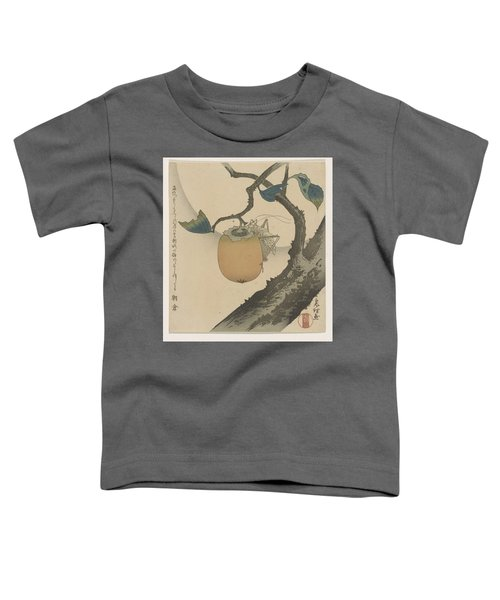 A Surimono Of An Insect On A Persimmon Toddler T-Shirt