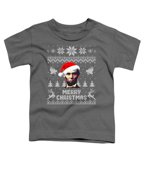 Abraham Lincoln Merry Christmas Toddler T-Shirt
