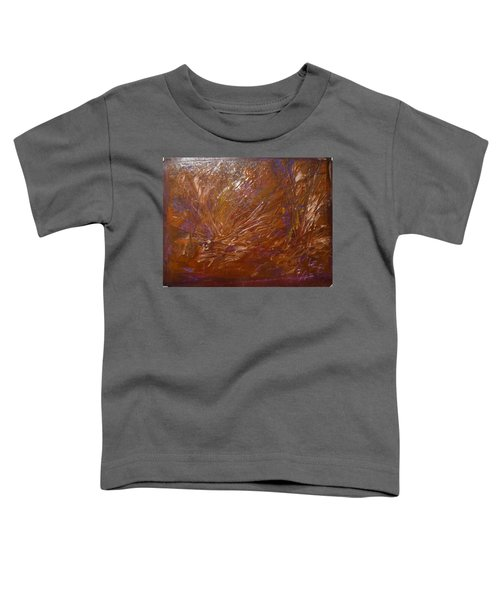 Abstract Brown Feathers Toddler T-Shirt