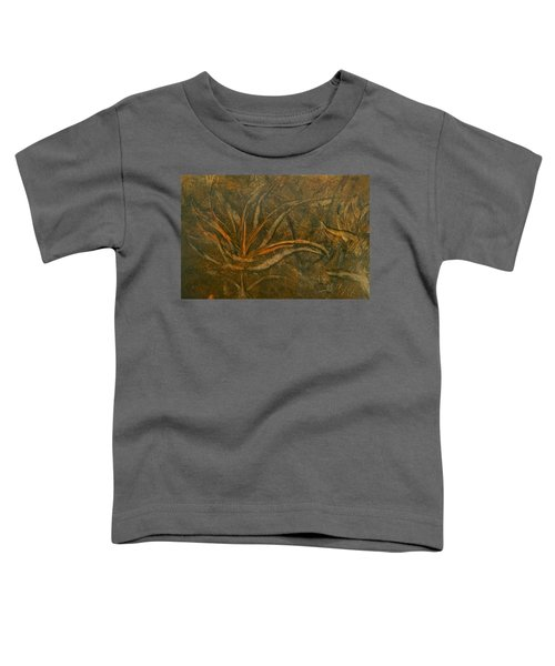 Abstract Brown/orange Floral In Encaustic Toddler T-Shirt