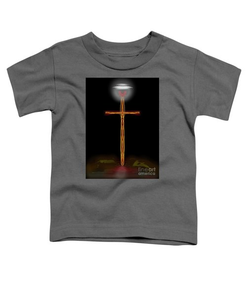 Abstract Cross With Halo Toddler T-Shirt