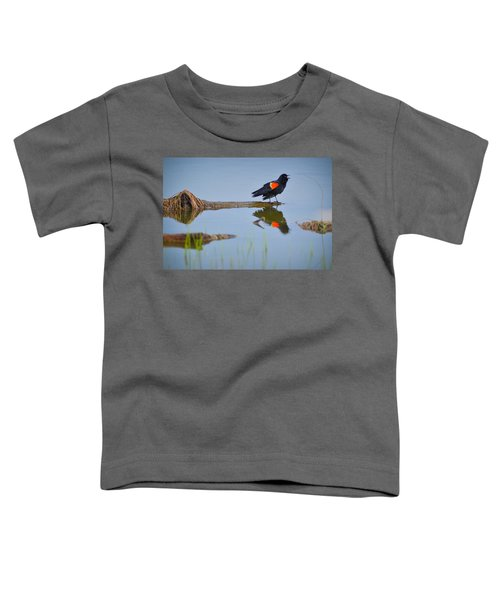 Toddler T-Shirt featuring the photograph Agelaius Phoeniceus by Carl Young
