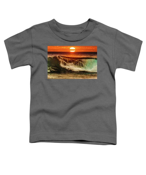 Ahh.. The Sunset Wave Toddler T-Shirt