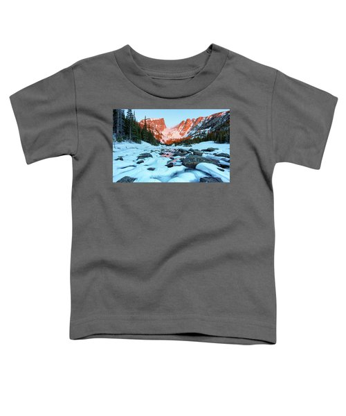 Alpenglow At Dream Lake Rocky Mountain National Park Toddler T-Shirt