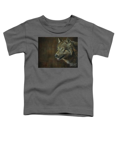 Alpha Male ......the Gray Wolf Toddler T-Shirt