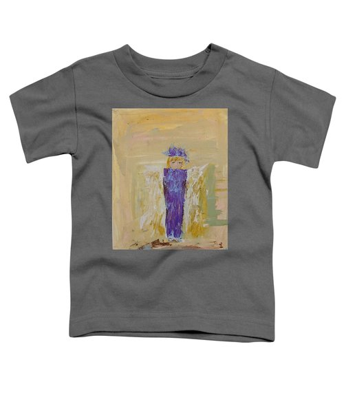 Angel Girl With A Unicorn Toddler T-Shirt