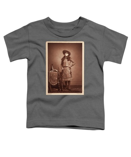 Annie-oakley-woodburytype-cabinet-card-c1890s Toddler T-Shirt