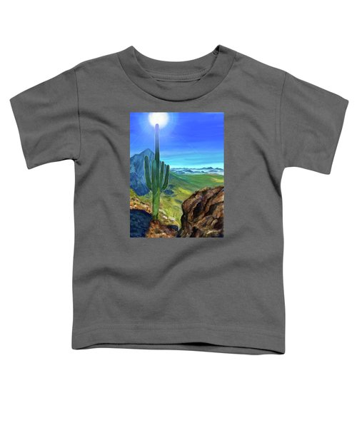 Toddler T-Shirt featuring the digital art Arizona Heat by Susan Kinney