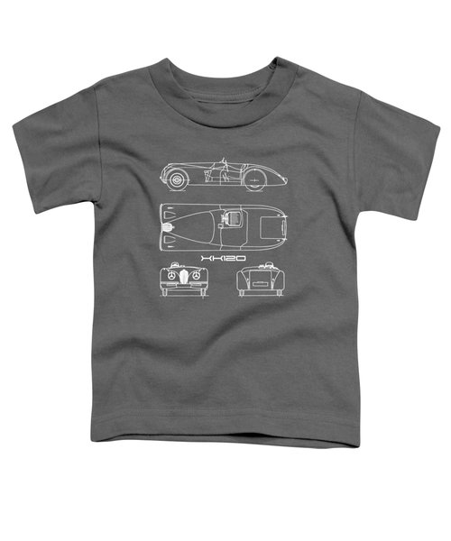 Jaguar Xk 120 Blueprint Toddler T-Shirt
