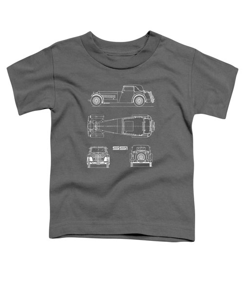 Jaguar Ss1 Blueprint Black Toddler T-Shirt