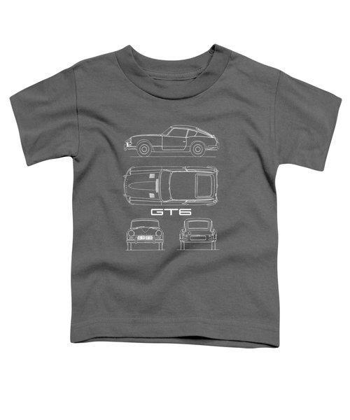 Triumph Gt6 Blueprint Toddler T-Shirt