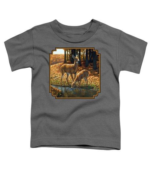 Whitetail Deer - Autumn Innocence 1 Toddler T-Shirt