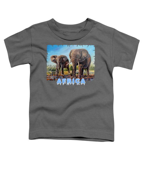 Arriving At The Muddy Pool Toddler T-Shirt