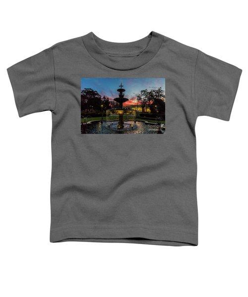 Augusta University Fountain Sunset Ga Toddler T-Shirt