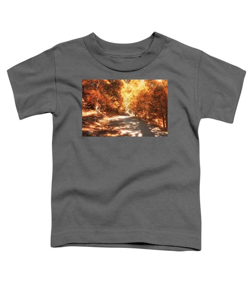Toddler T-Shirt featuring the photograph Autumn Forest by Alison Frank