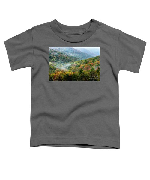 Autumn Hillsides With Mist Toddler T-Shirt