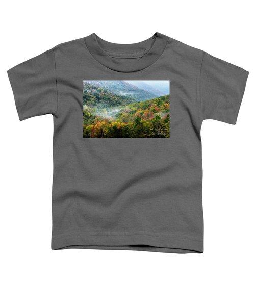 Autumn Hillsides With Mist Toddler T-Shirt