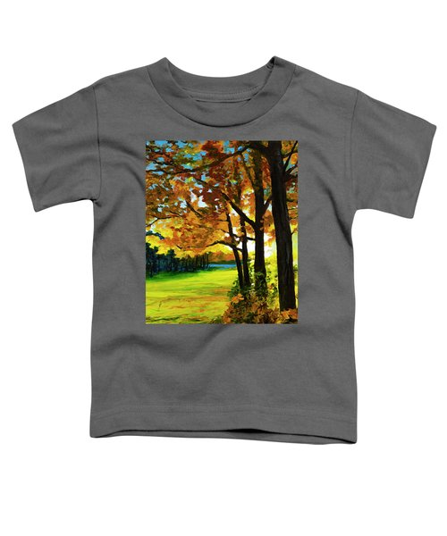Sunset Over The Park Toddler T-Shirt