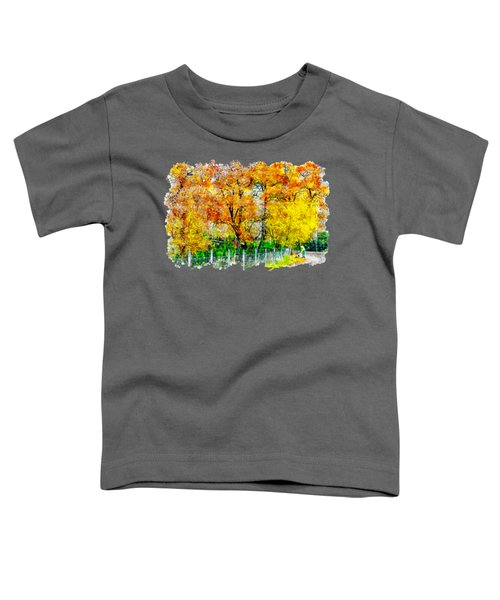 Autumn Watercolor Drawing Toddler T-Shirt