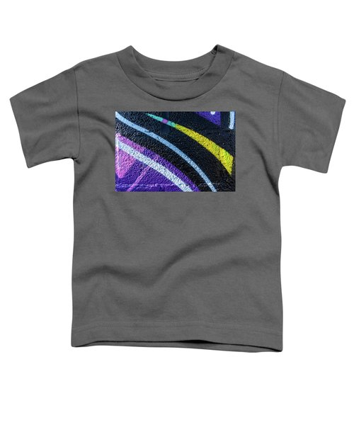 Background With Wall Texture Painted With Colorful Lines. Toddler T-Shirt