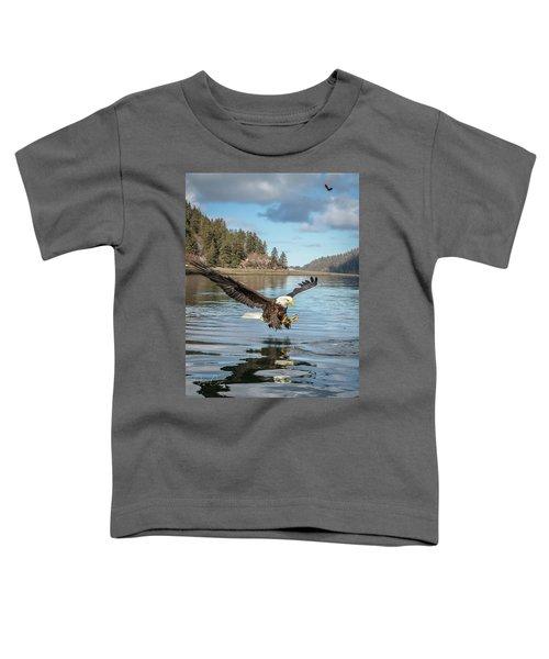 Bald Eagle Fishing In Sadie Cove Toddler T-Shirt