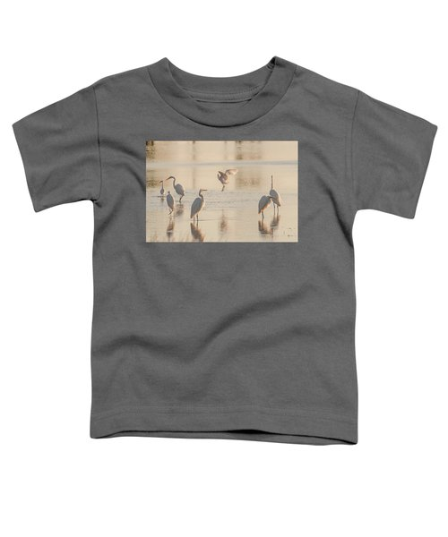 Toddler T-Shirt featuring the photograph Ballet Of The Egrets by Donald Brown