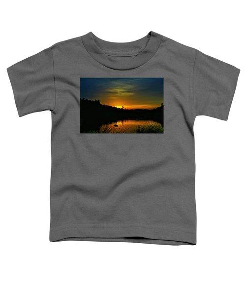 Bass Lake Sunrise Duck Toddler T-Shirt