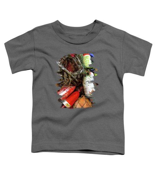 Bay Front Crab Buoys Toddler T-Shirt