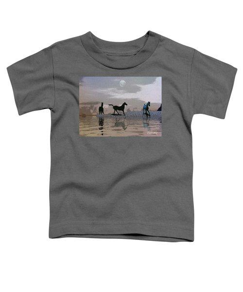 Beach Of Wild Horses Toddler T-Shirt
