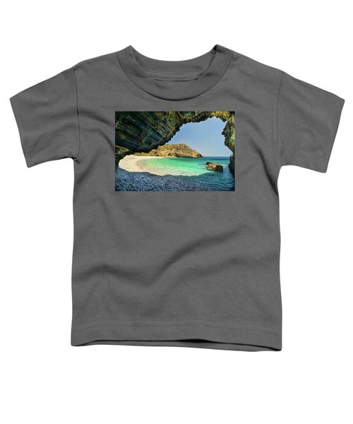 Almiro Beach With Cave Toddler T-Shirt