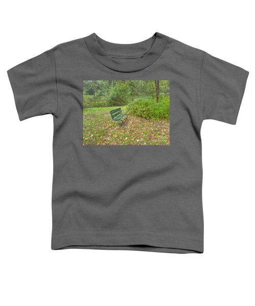 Bench Overlooking Pine Quarry Toddler T-Shirt