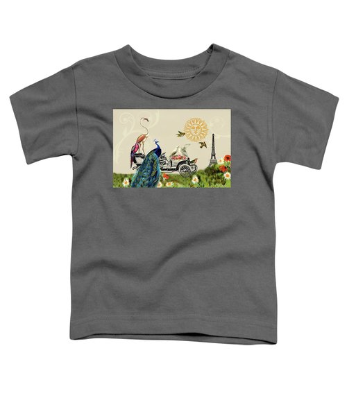 Birds Of A Feather In Paris, France Toddler T-Shirt