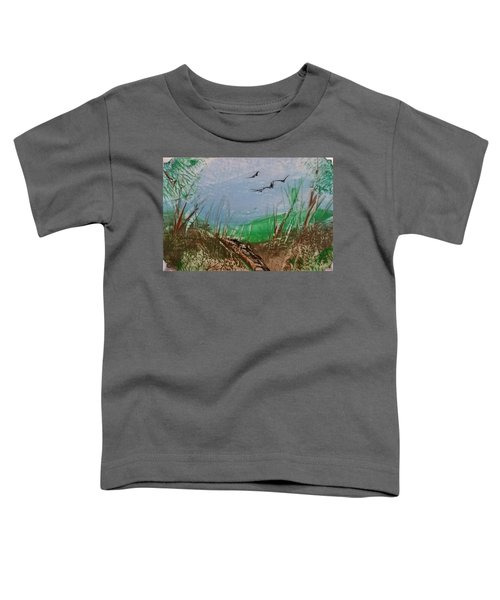 Birds Over Grassland Toddler T-Shirt