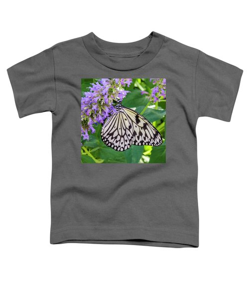 Black And White On Purple Toddler T-Shirt