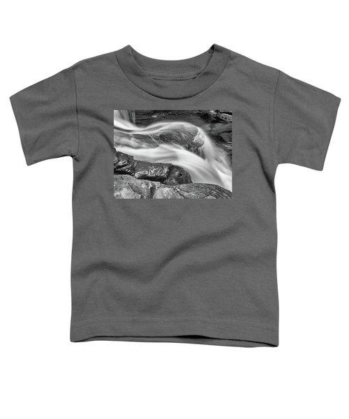 Black And White Rushing Water Toddler T-Shirt