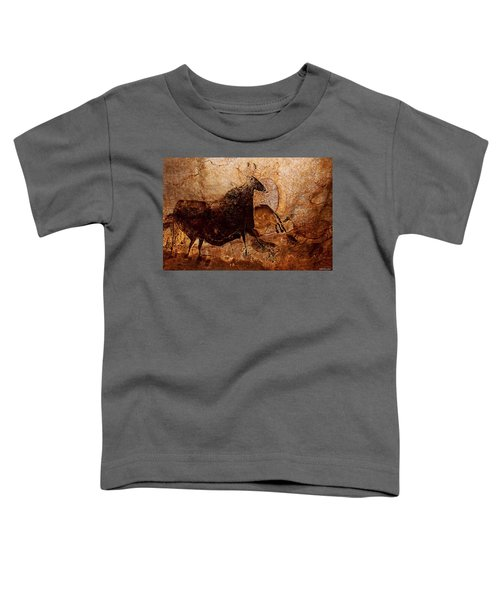 Black Cow And Horses Toddler T-Shirt
