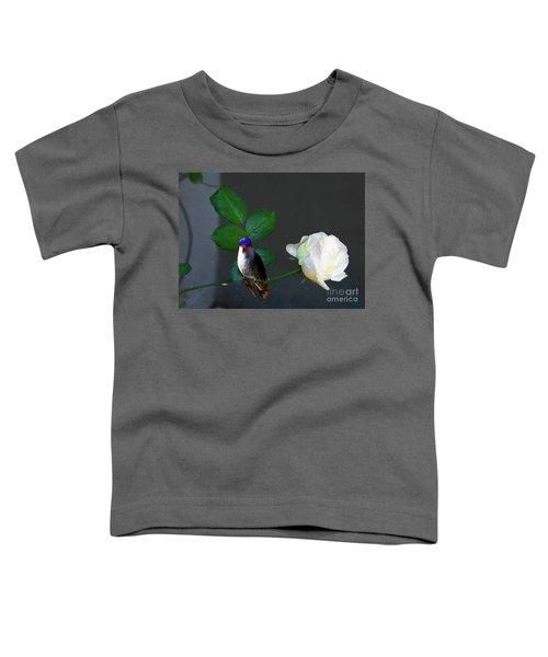 Blanca Rosa Con Colibri Toddler T-Shirt