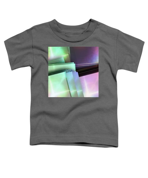 Blank Reflective Aluminum Plates. Blue, Pink And Purple. Fashion Abstract Background. Toddler T-Shirt