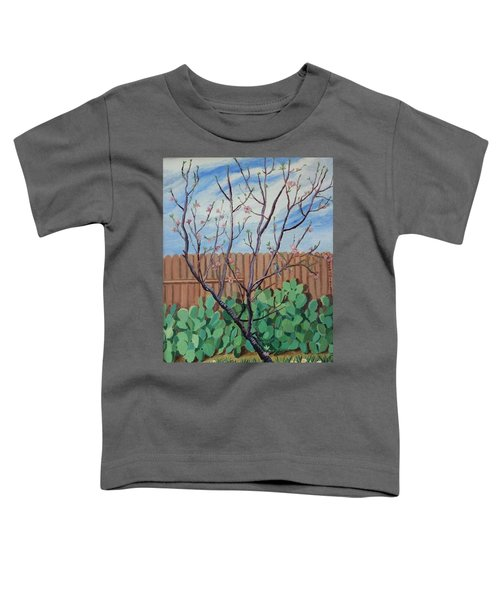 Blooming Peach In Our San Antonio Backyard Toddler T-Shirt