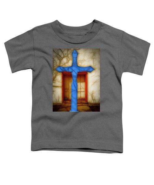 Blue Cross At Nuestra Senora De Luz Toddler T-Shirt